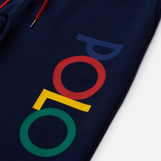 Мужские брюки Polo Ralph Lauren Multicolor Logo Printed Joggers Newport Navy