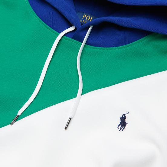 Мужская толстовка Polo Ralph Lauren Color Block Hoodie True Green/Multi