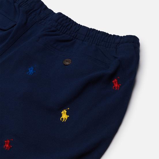 Мужские шорты Polo Ralph Lauren All Over Embroidered Polo Pony Newport Navy