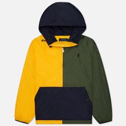 Мужская куртка анорак Polo Ralph Lauren Eastport Color Block Army/Slicker Yellow