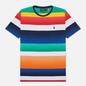 Мужская футболка Polo Ralph Lauren Multicolor Striped Crew Neck Spectrum Orange/Multi фото - 0