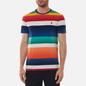 Мужская футболка Polo Ralph Lauren Multicolor Striped Crew Neck Spectrum Orange/Multi фото - 2
