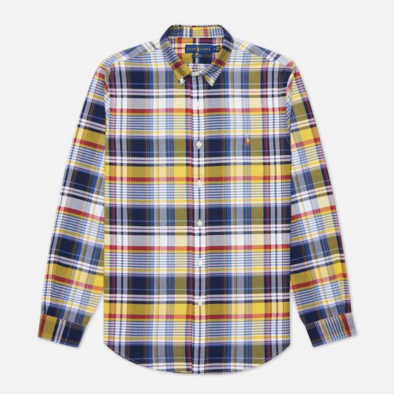 Мужская рубашка Polo Ralph Lauren Custom Fit Plaid Oxford Yellow/Blue Multi