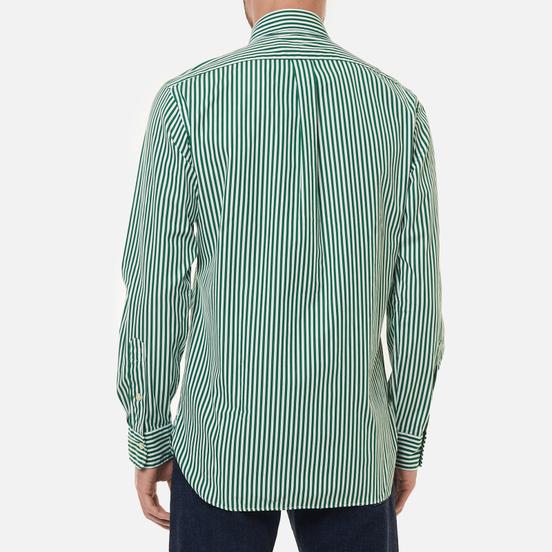 Мужская рубашка Polo Ralph Lauren Custom Fit Button Down Streep Athletic Green/White