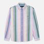 Мужская рубашка Polo Ralph Lauren Custom Fit Striped Oxford White/Green/Multi фото - 0