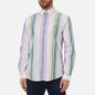 Мужская рубашка Polo Ralph Lauren Custom Fit Striped Oxford White/Green/Multi фото - 2