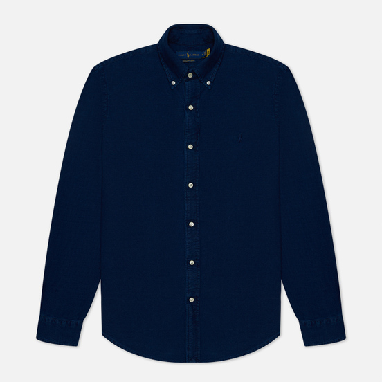 Мужская рубашка Polo Ralph Lauren Custom Fit Classic Oxford Indigo