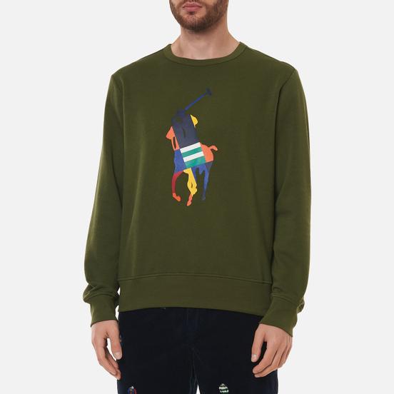 Мужская толстовка Polo Ralph Lauren Multicolour Pony Pony Crew Neck Army