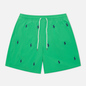 Мужские шорты Polo Ralph Lauren All Over Embroidered Polo Pony Traveler Mid Golf Green фото - 0