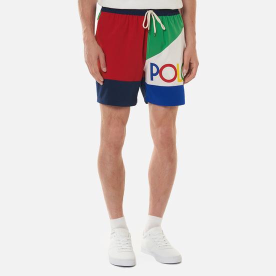 Мужские шорты Polo Ralph Lauren Color Block Traveler Mid Royal/Multi