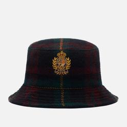 Панама Polo Ralph Lauren Logo Crest Wool Twill Litchfield Green/Burgundy Plaid