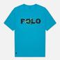 Мужская футболка Polo Ralph Lauren Classic Fit Paint Splatter Logo Perfect Turquoise фото - 0