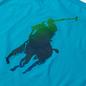 Мужская футболка Polo Ralph Lauren Classic Fit Paint Splatter Logo Perfect Turquoise фото - 2