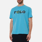 Мужская футболка Polo Ralph Lauren Classic Fit Paint Splatter Logo Perfect Turquoise фото - 4