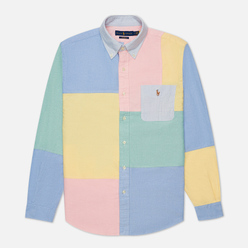 Мужская рубашка Polo Ralph Lauren Custom Fit Classic Oxford Color Block Solid Multi/Fun