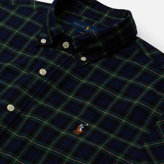 Мужская рубашка Polo Ralph Lauren Slim Fit Classic Oxford Check Navy/Green