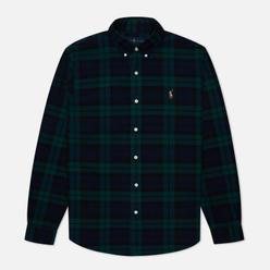 Мужская рубашка Polo Ralph Lauren Slim Fit Classic Oxford Check Green/Navy