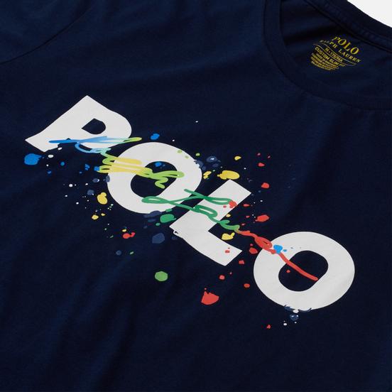Мужская футболка Polo Ralph Lauren Classic Fit Paint Splatter Logo Newport Navy