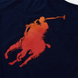 Мужская футболка Polo Ralph Lauren Classic Fit Paint Splatter Logo Newport Navy фото - 2