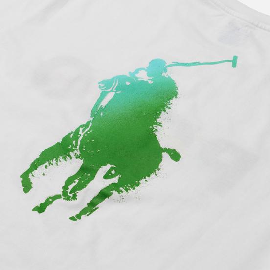 Мужская футболка Polo Ralph Lauren Classic Fit Paint Splatter Logo White