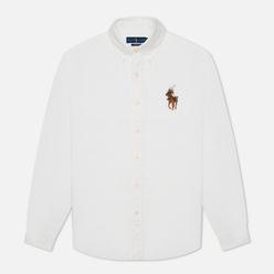 Мужская рубашка Polo Ralph Lauren Custom Fit Polo Bear Oxford BSR White/Riding Bear