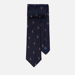 Мужской галстук Polo Ralph Lauren Polo Pony Silk Narrow Navy