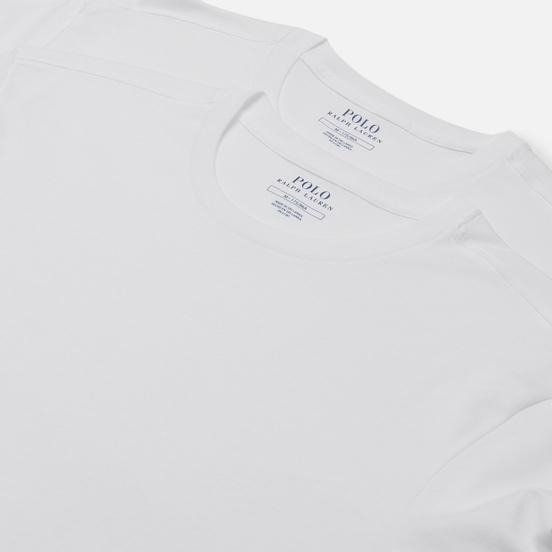 Комплект мужских футболок Polo Ralph Lauren Classic 2-Pack Crew Neck White/Cruise Navy Polo Pony