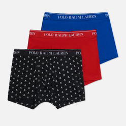 Комплект мужских трусов Polo Ralph Lauren Classic Trunk 3-Pack Black All Over Skull/Red/Sapphire