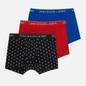 Комплект мужских трусов Polo Ralph Lauren Classic Trunk 3-Pack Black All Over Skull/Red/Sapphire фото - 0