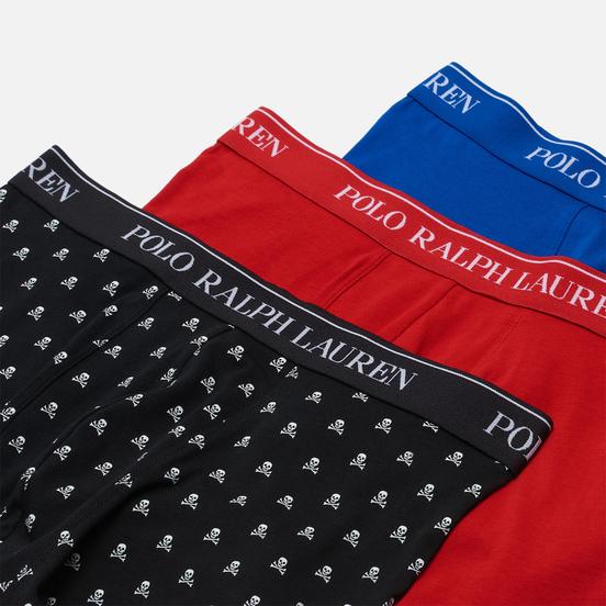 Комплект мужских трусов Polo Ralph Lauren Classic Trunk 3-Pack Black All Over Skull/Red/Sapphire