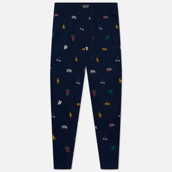 Мужские брюки Polo Ralph Lauren Printed Liquid Cotton Sleep Bottom Navy/Icons Print
