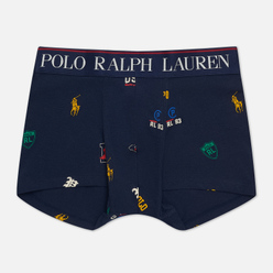 Мужские трусы Polo Ralph Lauren Print Single Trunk Navy/Icons Print