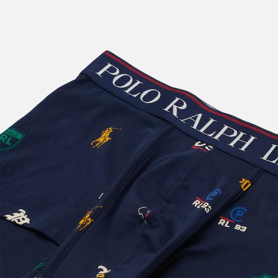Мужские трусы Polo Ralph Lauren Print Single Trunk Navy/Icons Print
