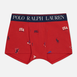 Мужские трусы Polo Ralph Lauren Print Single Trunk Red/Icons Print