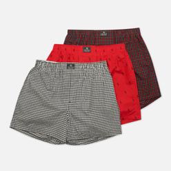 Комплект мужских трусов Polo Ralph Lauren Open Classic Boxer 3-Pack Duncan Plaid/Red All Over Polo Pony/Red Tartan