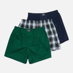 Комплект мужских трусов Polo Ralph Lauren Open Classic Boxer 3-Pack Green All Over Polo Pony/Green Plaid/Navy