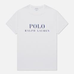 Мужская футболка Polo Ralph Lauren Crew Neck Chest Branded Sleep Top White
