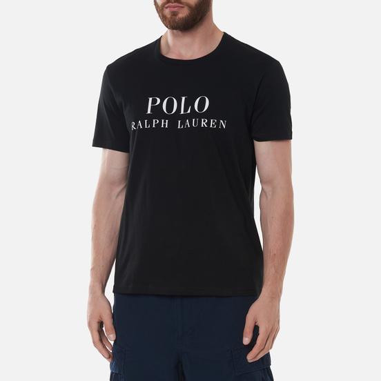 Мужская футболка Polo Ralph Lauren Crew Neck Chest Branded Sleep Top Black