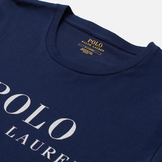 Мужская футболка Polo Ralph Lauren Crew Neck Chest Branded Sleep Top Cruise Navy