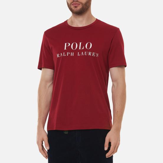 Мужская футболка Polo Ralph Lauren Crew Neck Chest Branded Sleep Top Eaton Red