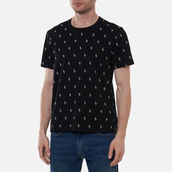 Мужская футболка Polo Ralph Lauren Crew Neck All Over Print Sleep Top Black
