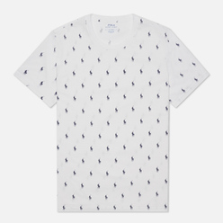 Мужская футболка Polo Ralph Lauren Crew Neck All Over Print Sleep Top White