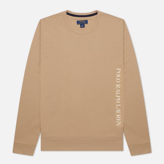 Мужской лонгслив Polo Ralph Lauren Printed Branding Crew Neck Vintage Khaki