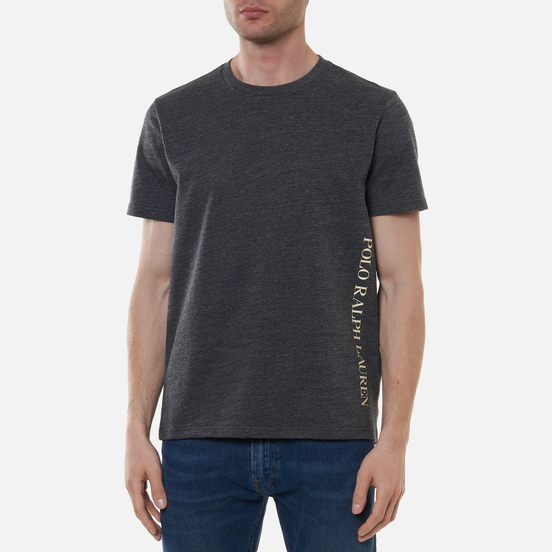 Мужская футболка Polo Ralph Lauren Printed Branding Crew Neck Charcoal Heather