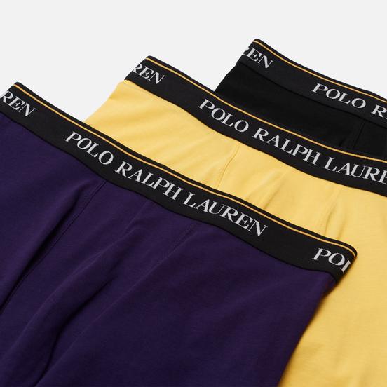 Комплект мужских трусов Polo Ralph Lauren Classic Trunk 3-Pack Black/Branford Purple/Campus Yellow