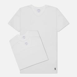 Комплект мужских футболок Polo Ralph Lauren Crew Neck 3-Pack White/White/White