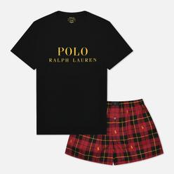 Мужская пижама Polo Ralph Lauren S/S Crew Set - Classic Boxer Wallace Plaid/Polo Black