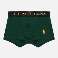Мужские трусы Polo Ralph Lauren Solid Trunk Single Gollege Green/Gold Polo Pony