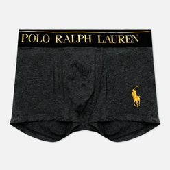 Мужские трусы Polo Ralph Lauren Solid Trunk Single Windsor Heather/Gold Polo Pony