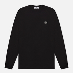 Мужской лонгслив Stone Island Patch Program Crew Neck Black